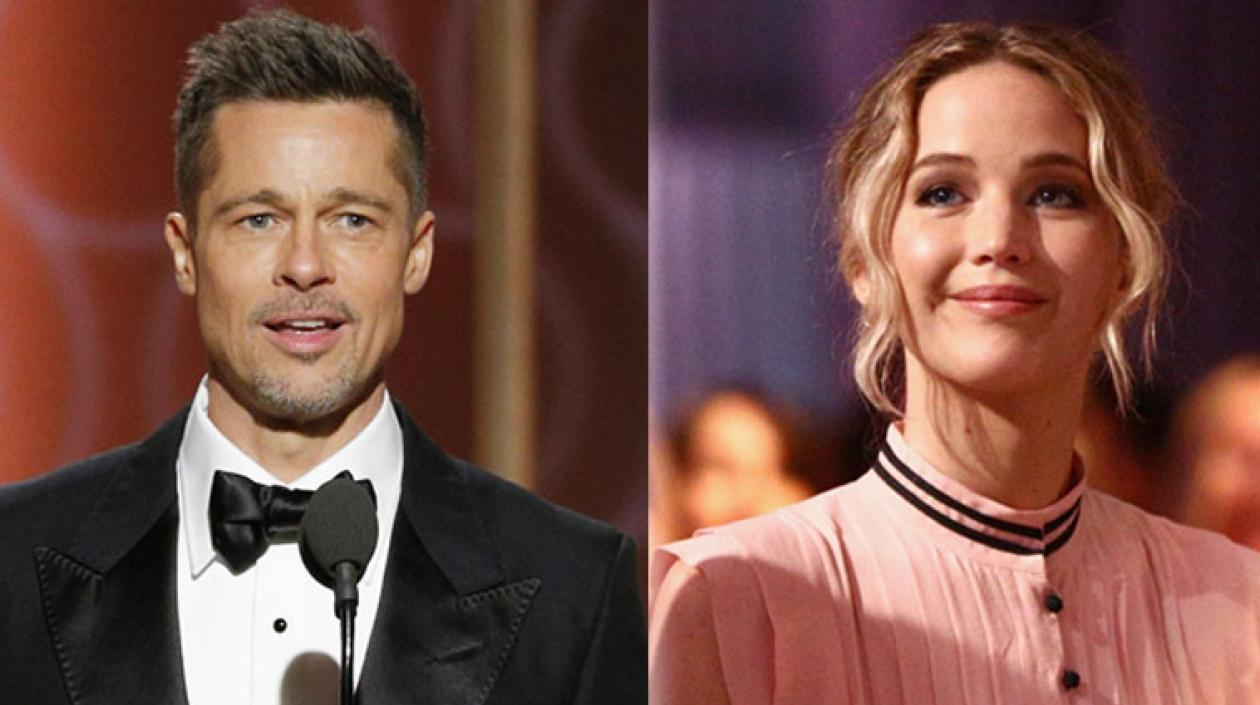Brat Pitt y Jennifer Lawrence.