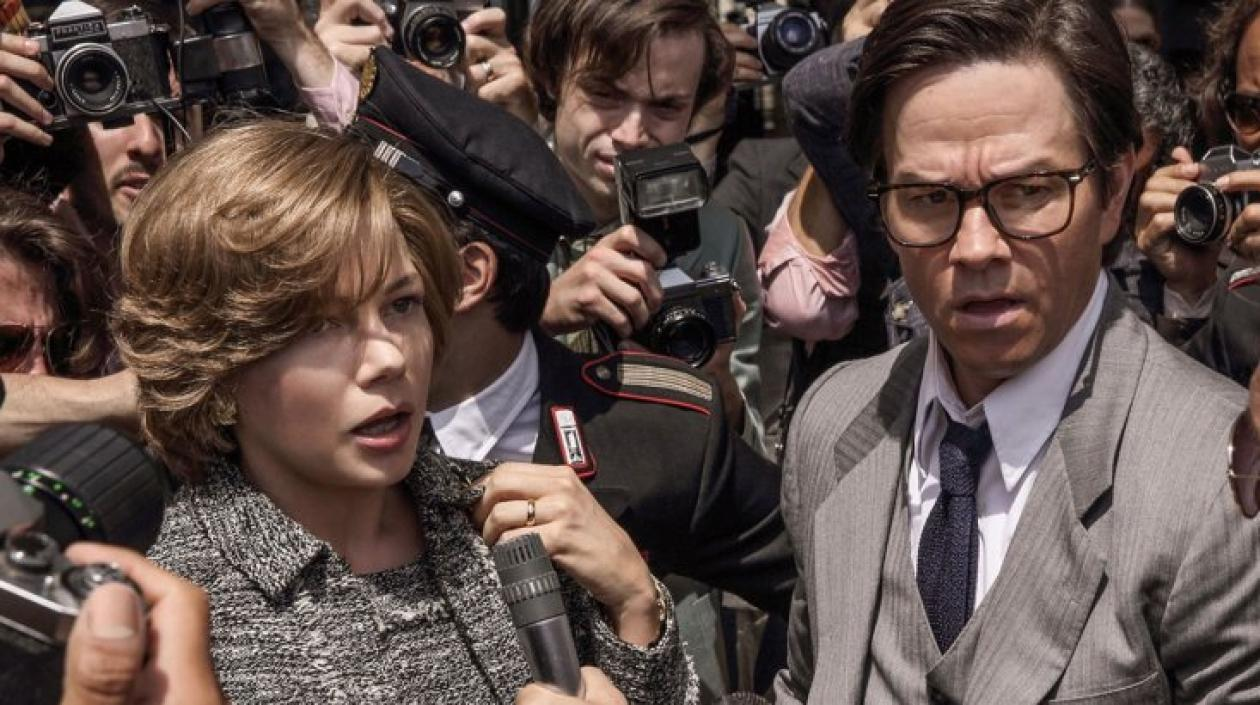 Los actores Michelle Williams y Mark Wahlberg.
