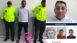 Alexánder José Rivera Barrios, alias Willy, capturado por la Policía.
