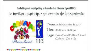 Invitación al evento.