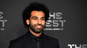 Mohamed Salah en la gala de los premios The Best.