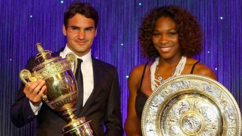 Roger Federer y Serena Williams.