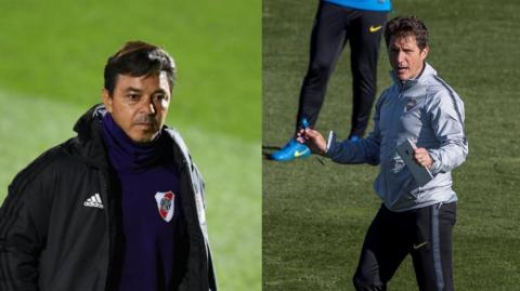 Marcelo Gallardo y Guillermo Barros Schelotto.