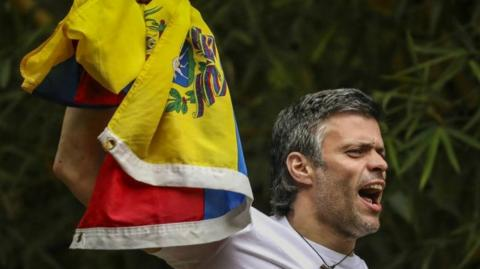 Leopoldo López, líder opositor de Voluntad Popular.