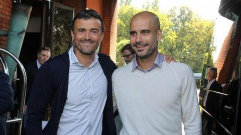 Luis Enrique y Pep Guardiola.