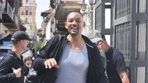 El actor Will Smith en Cartagena.