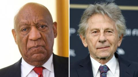 El actor Bill Cosby y el cineasta Roman Polansky.
