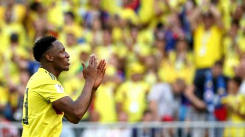 Yerry Mina, defensa de Colombia.