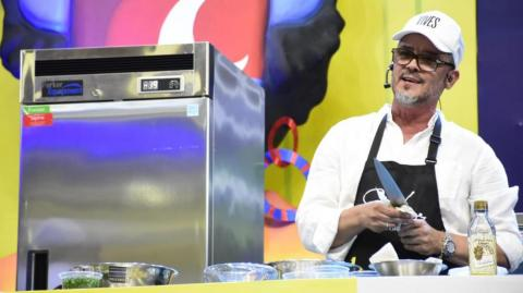 El chef samario Guillermo Vives.