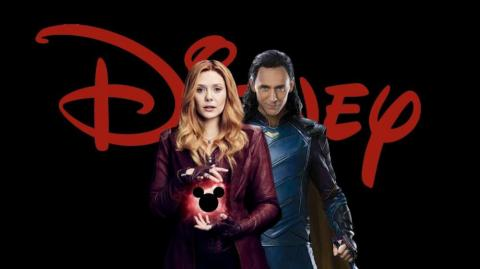Los personajes de Scarlet Witch (Elizabeth Olsen) y Loki (Tom Hiddleston).