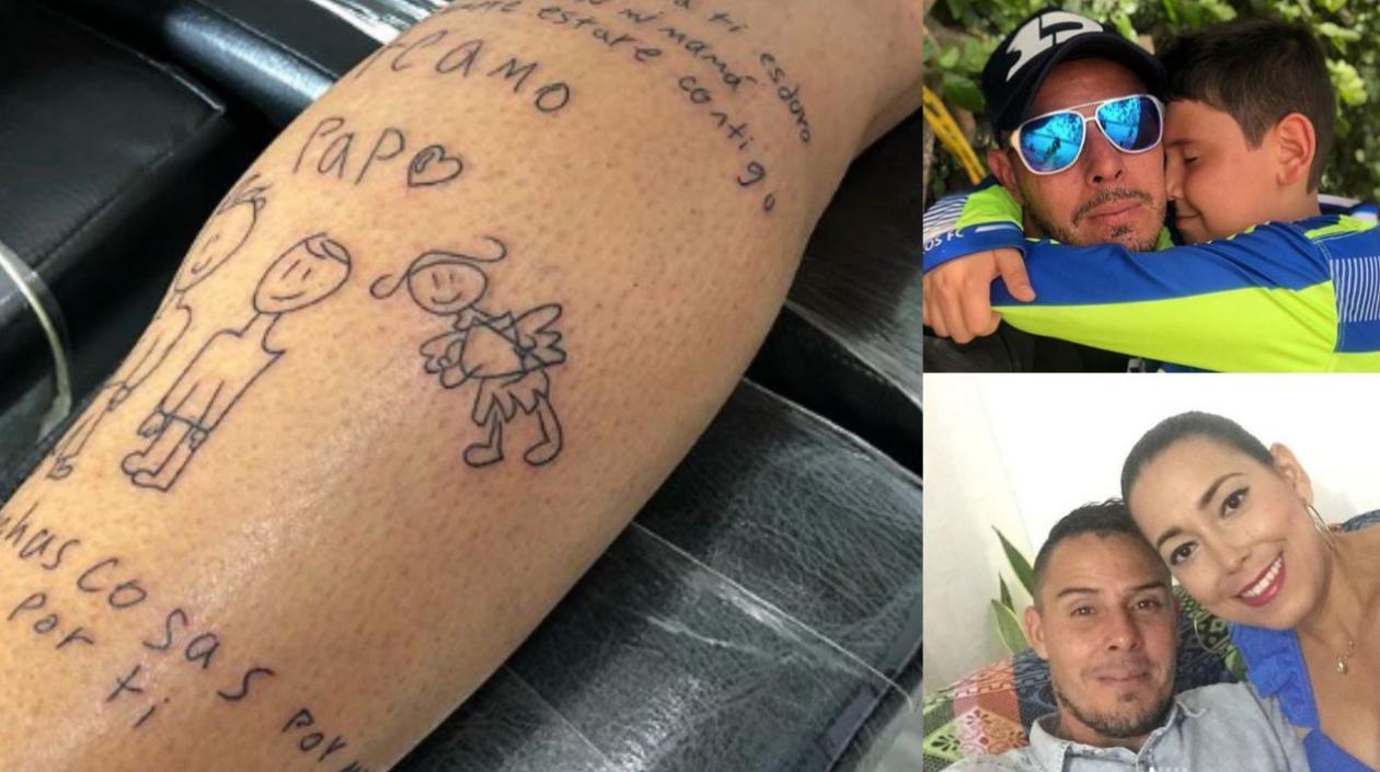 Arquero Luis Delgado Se Tatuo Carta De Su Hijo En Homenaje A Su Esposa Fallecida Zona Cero
