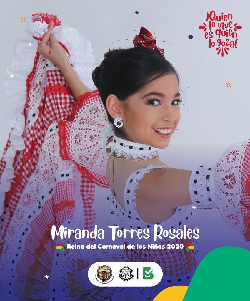 Miranda Torres, Reina del Carnaval de los Niños 2020.