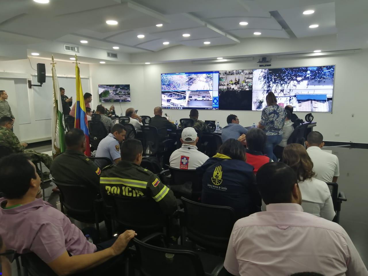 Puesto de mando unificado en Barranquilla.