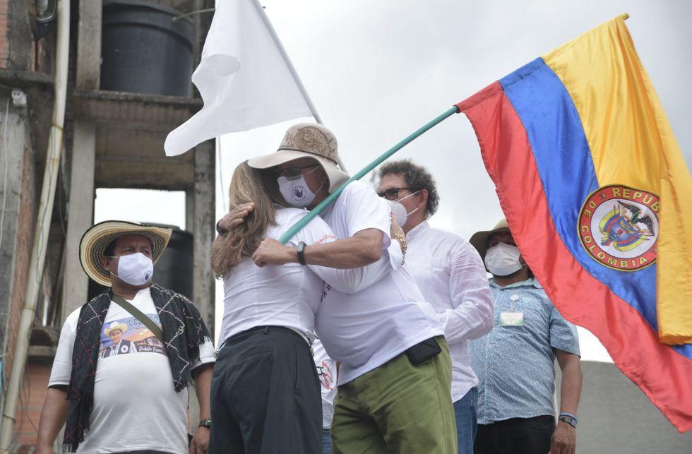 Ceremonia de perdón en la vereda Pipiral de Villavicencio (Meta).