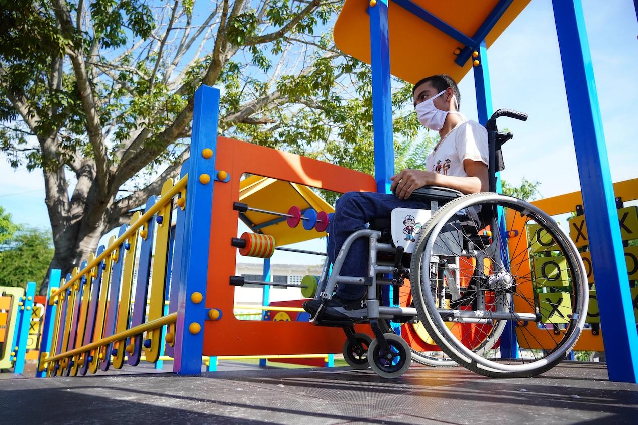 Este es un parque inclusivo.