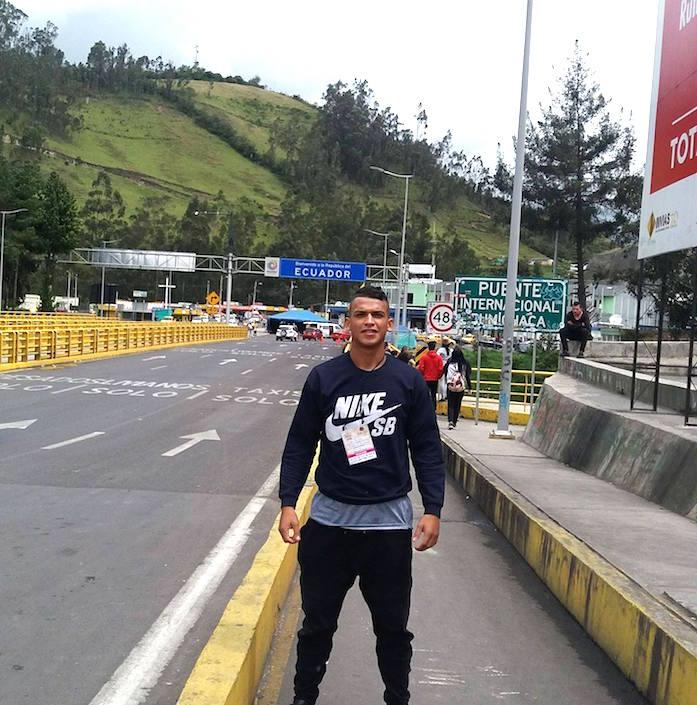 Yecid Bolaño Morelo durante un viaje en la frontera con Ecuador.