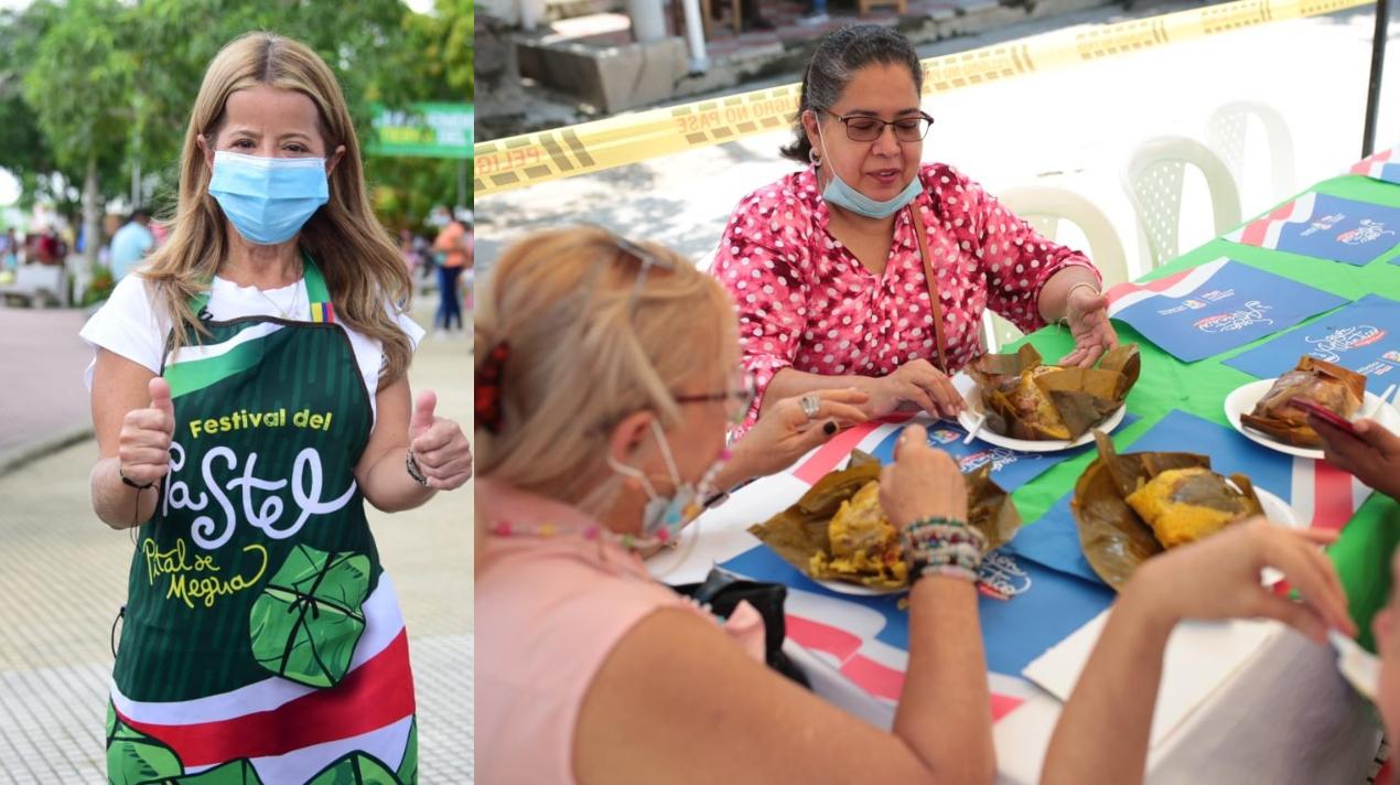 La gobernadora Elsa Noguera estuvo en el Festival del Pastel, en Pital de Megua.
