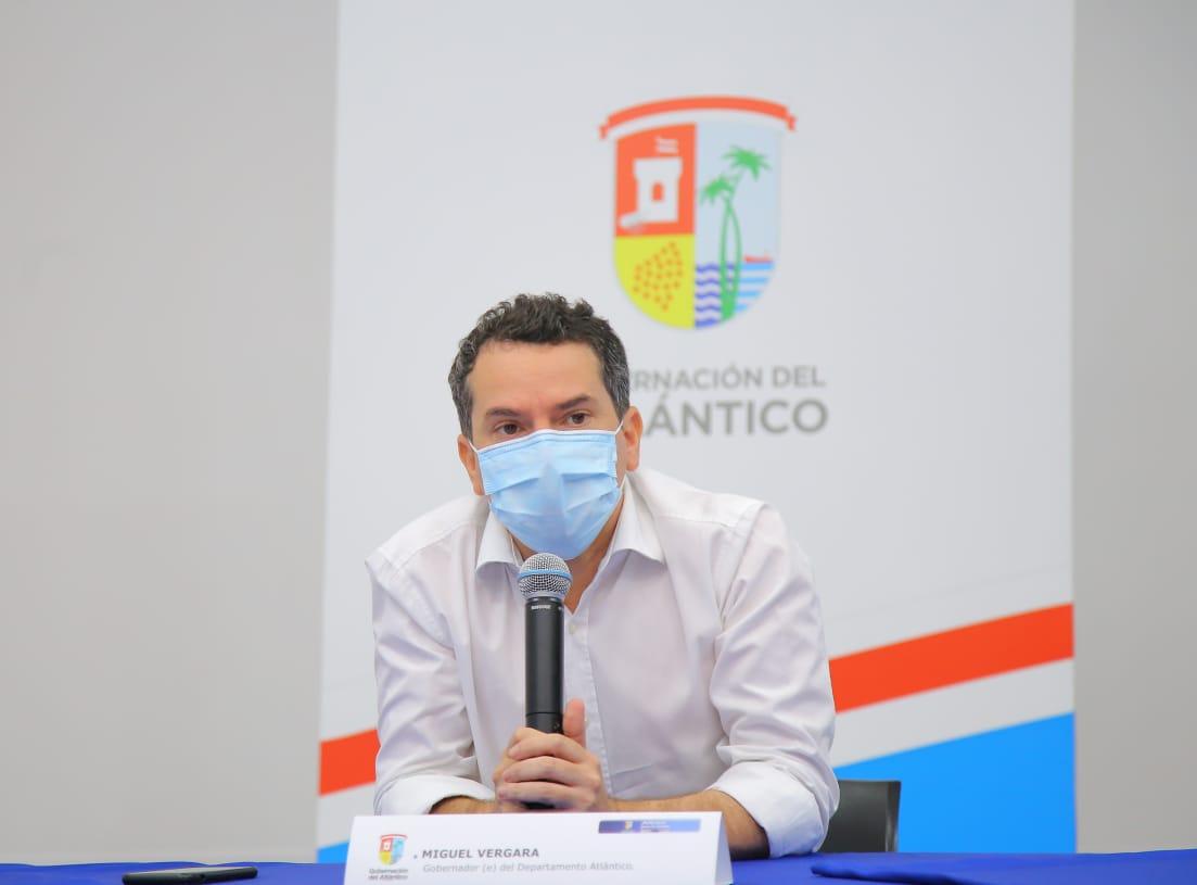 Miguel Vergara, gobernador encargado del Atlántico.
