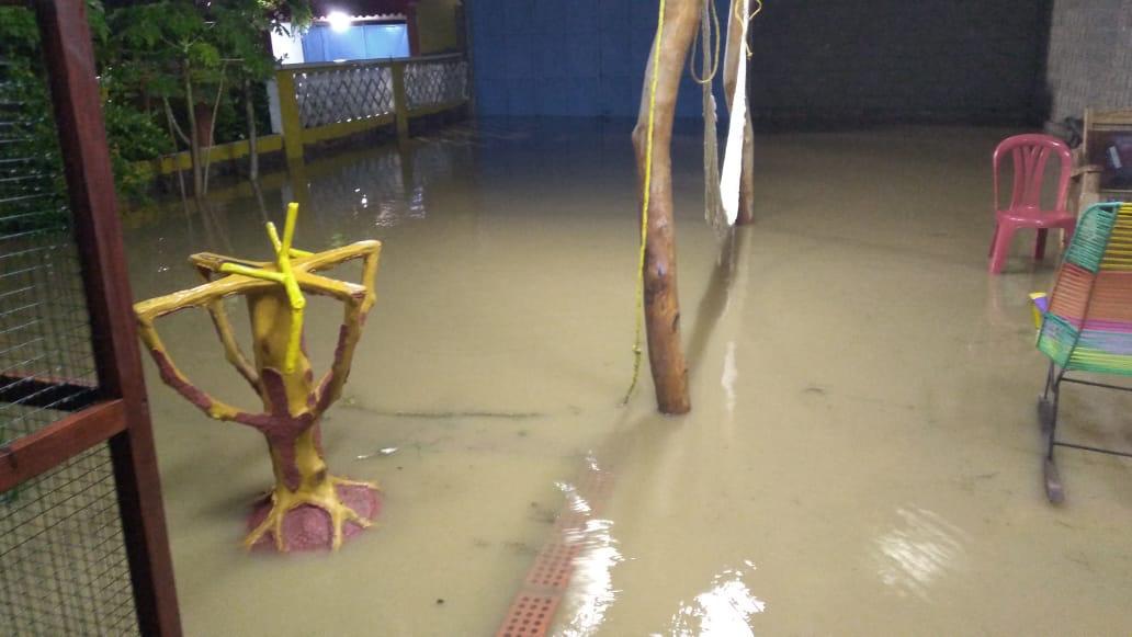 Inundaciones en Santa Verónica.