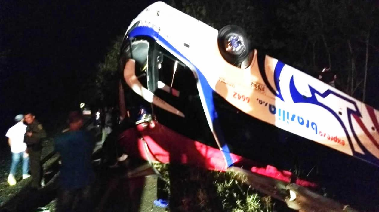 Este es el bus accidentado.