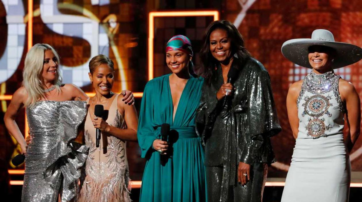 Lady Gaga, Jada Pinkett Smith, Alicia Keys, Michelle Obama y Jennifer López.