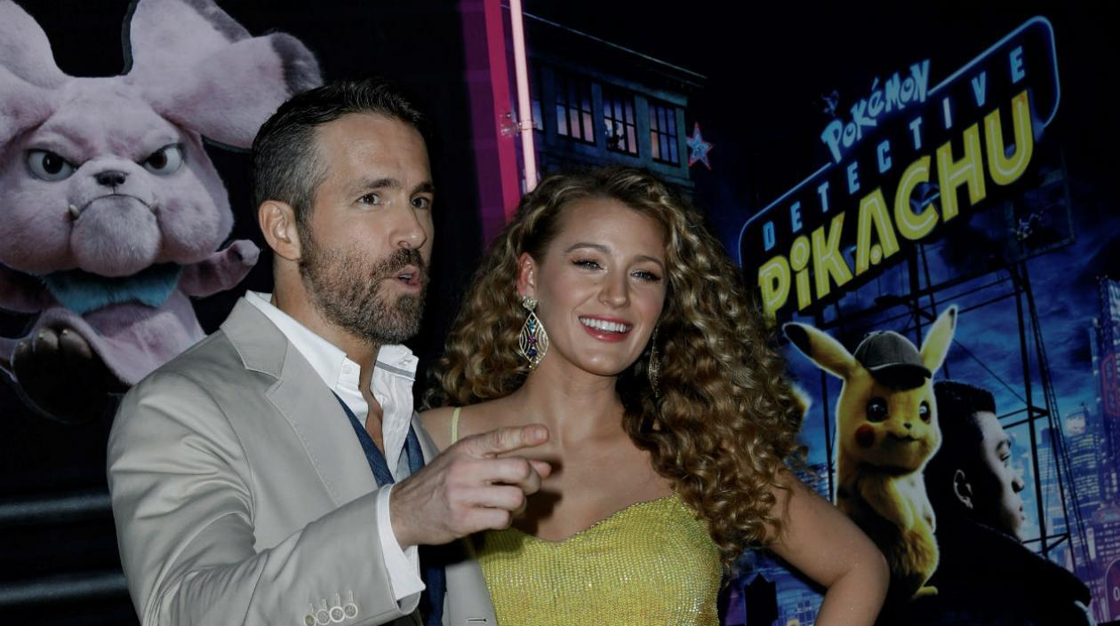 El actor canadiense-estadounidense Ryan Reynolds y su esposa, Blake Lively.