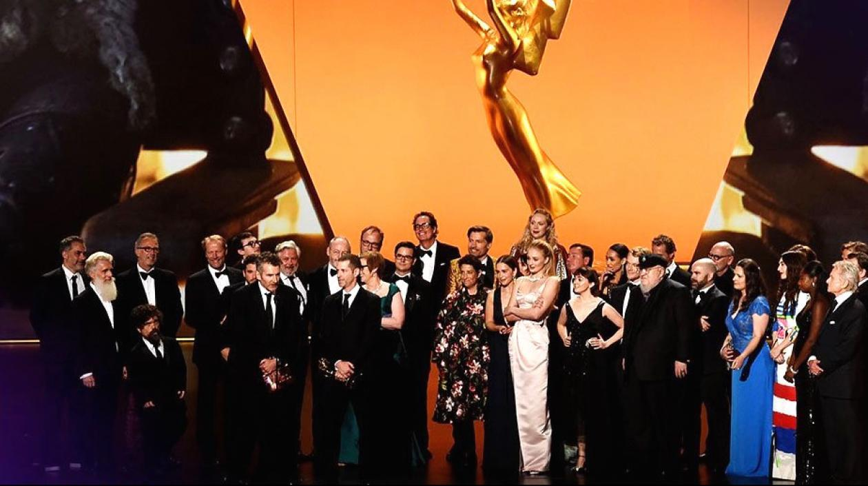 Elenco de 'Game of thrones' en el escenario de los premios Emmy 2019.