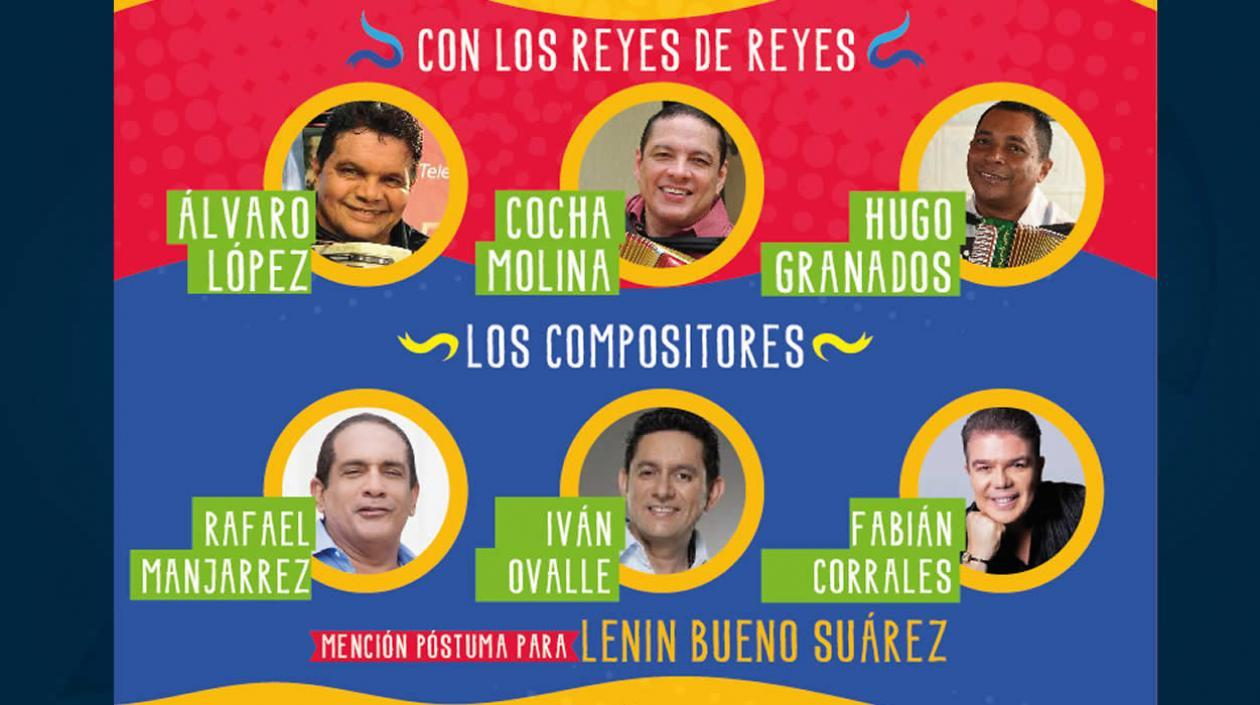 Reyes de Reyes y compositores que estarán presentes.