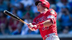 Mike Trout, pelotero de los Angelinos.