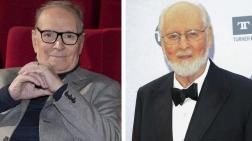 El compositor italiano Ennio Morricone (izda) y el estadounidense John Williams.