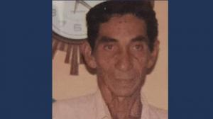 César De la Cruz, adulto mayor extraviado.