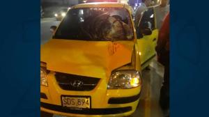 El taxi del accidente.