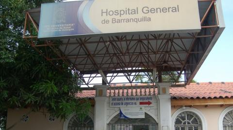 Fachada del Hospital General de Barranquilla.