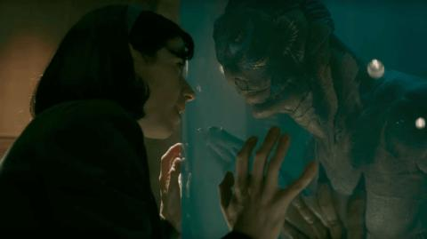 "Captura de video del trailer de ""La forma del agua"", de Guillermo Del Toro."