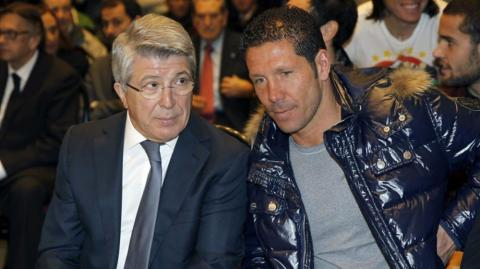 Enrique Cerezo y Diego Simeone.