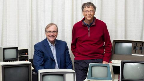 Paul Allen y Bill Gates, co-fundadores de Microsoft.
