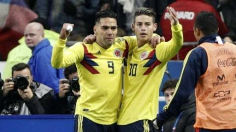 Radamel Falcao García y James Rodríguez.