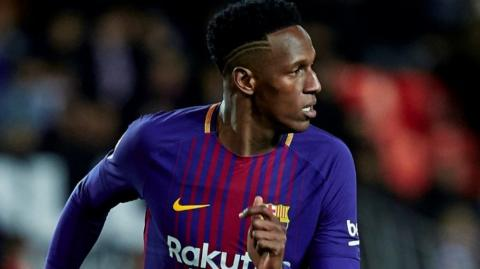 Yerry Mina, defensa colombiano.