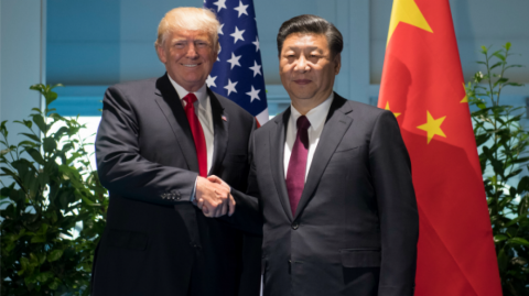 Donald Trump y el presidente de China, Xi Jinping.