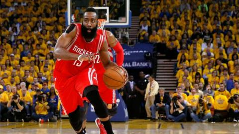 James Harden, basquetbolista de los Rockets.
