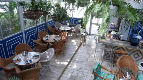 Patio interior climatizado en Mar de leva.