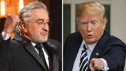 El actor Robert de Niro y el presidente de EE.UU., Donald Trump.