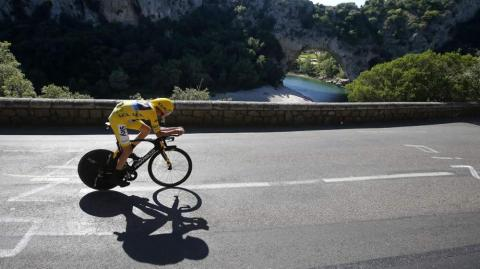 Chris Froome, ciclista colombiano.