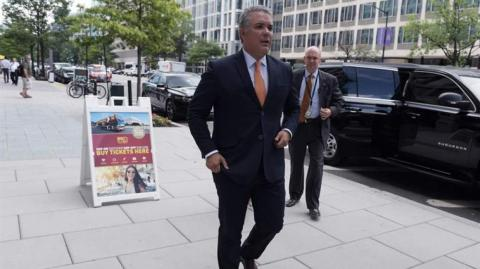 El presidente electo de Colombia, Iván Duque, en Washington.