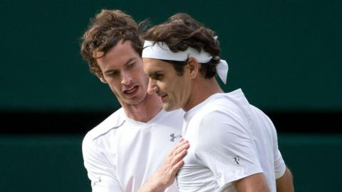 Roger Federer y Andy Murray.