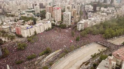 Es la mayor marcha realizada en Chile.