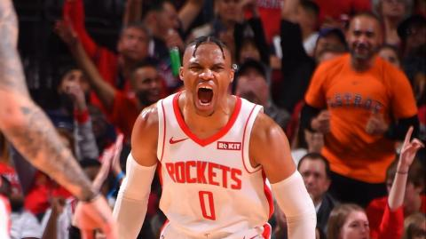 Russell Westbrook, jugador de los Rockets de Houston.