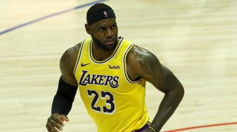La estrella de Lakers, Lebron James.