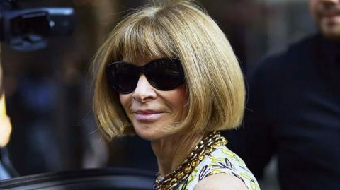 Anna Wintour, editora jefe de la revista Vogue USA.