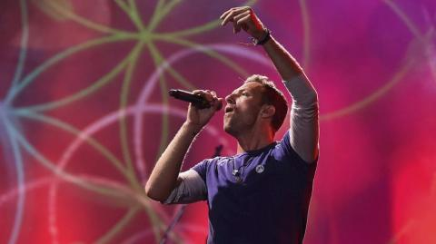 Chris Martin, líder de Coldplay.